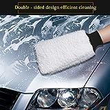 Auto Waschhandschuh Microfibre Wash Mitt Xpassion 2 Stücke Premium Mikrofaser Waschhandschuh zur Auto Reinigung Autowäsche - 5