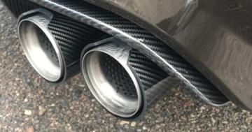 Carbon-Teile am BMW