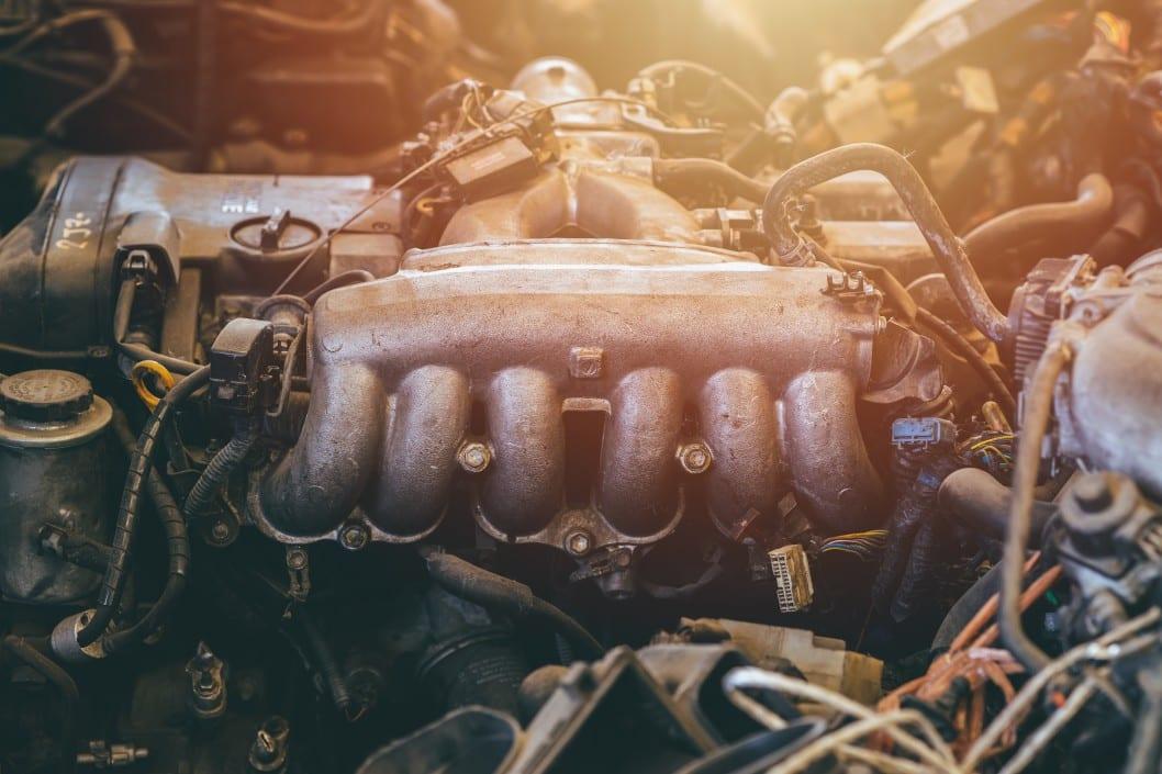 dreckiger Motor